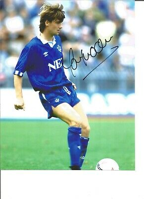 Football Autograph Ian Snodin Everton FC Signed 10x8 Inch Photograph JM14