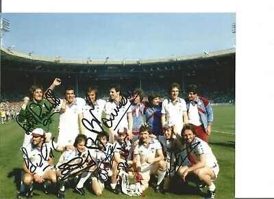Football Autographs West Ham United 1980 FA Cup Team Signed Photograph JM18