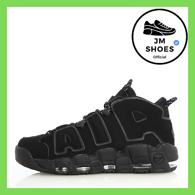 SCARPE NIKE AIR More Uptempo Wmns Triple Black Nero Woman Uomo Donna 414962 004