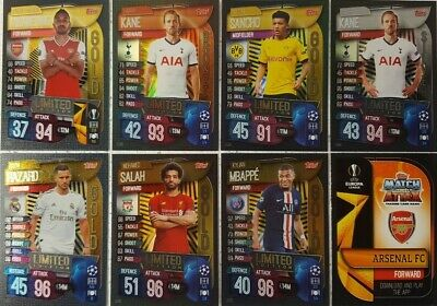 Match Attax 2019/20 UEFA Champions League LIMITED EDITION Card SINGLES Gold Silv