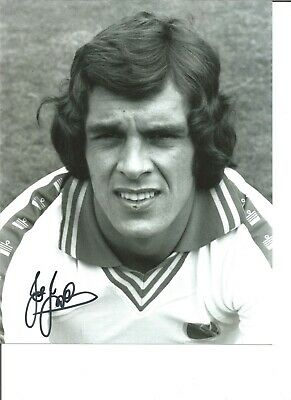 Football Autograph Joe Jordan Leeds United Signed 10x8 inch Photograph JM26
