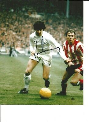 Football Autograph Peter Lorimer Leeds United Signed 10x8 inch Photograph JM28