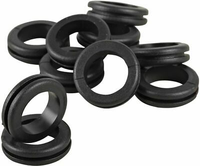20MM Open Rubber Grommets Plugs Metal Back Box Electrical Wiring Pack of 100