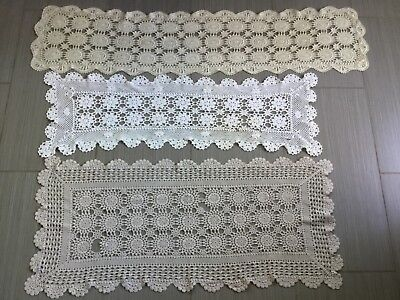 Vintage doilies runners x3