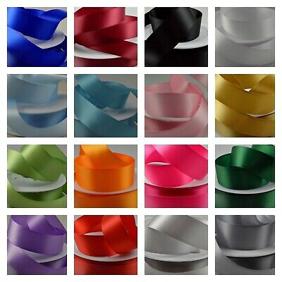 10mm Double Sided Satin Ribbon - wide choice of colours