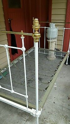 Antique Brass Bed Single For Period Look New Spring Base