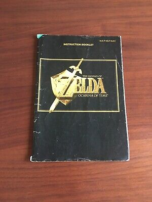 N64 Zelda Ocarina Of Time Manual ONLY