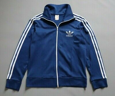 ADIDAS EUROPA VINTAGE 70s TRACK JACKET TRACKSUIT TOP RARE RETRO SIZE SMALL