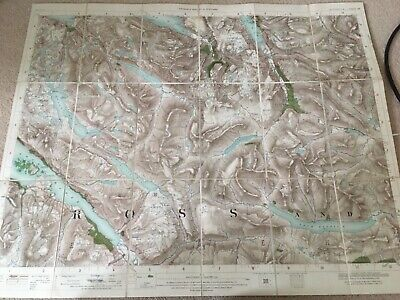 Old Ordnance Survey Map Scotland Good Condition