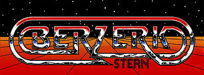 Stern Berzerk Arcade Marquee For Reproduction Header/Backlit Sign