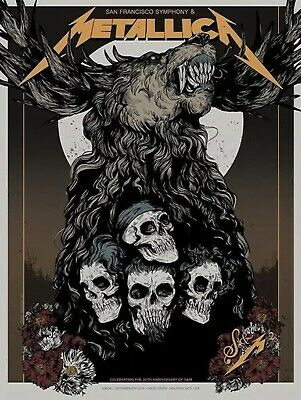 METALLICA San Francisco Symphony Metallica S&M Poster Night 2 Chase Center 2019