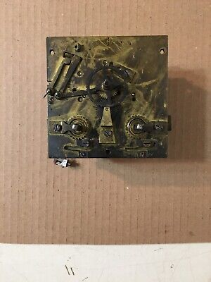 Antique Marti French Bakers Style Wall Clock Movement Parts
