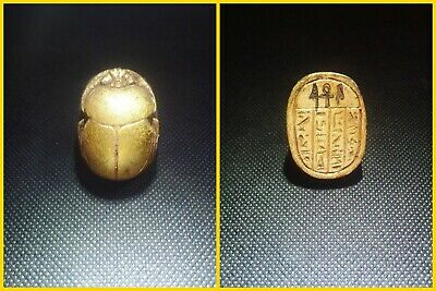 EGYPTIAN ANTIQUES ANTIQUITIES Scarab Beetle Khepri Figure Sculpture 1549-1144 BC