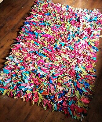 Shaggy Jersey Rag Rug Fair Trade Large
