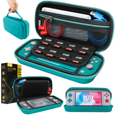 Nintendo Switch Lite Hard Case Protective Cover Carry Bag by Orzly - Turquoise