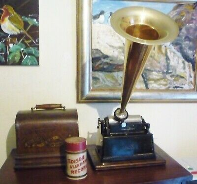 Edison Gem Phonograph With Free Cylinder Record