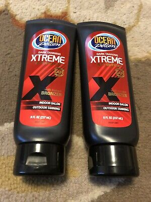 Lot of 2-8oz Ocean Potion Dark Tanning XTREME Extreme Intensifier with Bronzer