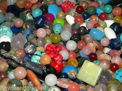 NEW 4/oz Gemstone, Semiprecious 6-15mm of Multi-colored MIXED LOOSE BEADS LOT