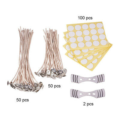 Candle Making Kit Pre Waxed Wicks Wick Stickers Wick Holder Candle Making Tools
