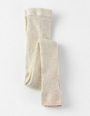 Boden Girls Sparkly Footless Tights Age 11-12 Years BNWT Oatmeal Uk Freepost