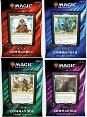 Magic the Gathering 2019 Commander deck complete set of 4 decks