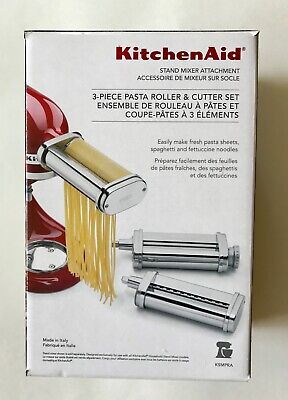 KitchenAid 3 Piece Pasta Roller Cutter Attachment Set - Used Once