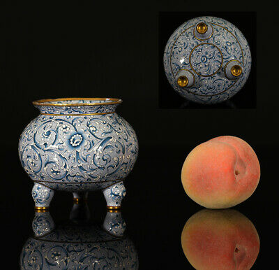 A BEAUTIFUL RARE antique CHINESE GILDED CANTON ENAMEL CENSER 19TH CENTURY