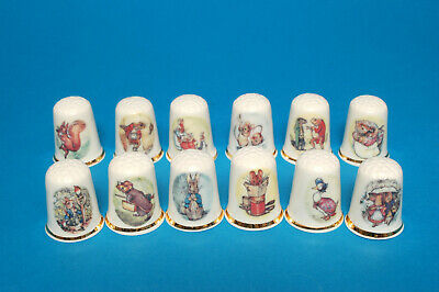 Beatrice Potter's Peter Hase Set Mit 12 China Fingerhüte B / 121