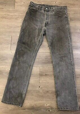 VTG Levis 40509 Fadded Gray Jeans Size 32 X 32 Made USA