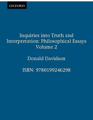 Inquiries into Truth and Interpretation 9780199246298 Paperback  Philosophical E