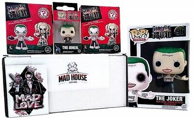Funko Pop Suicide Squad 5pc Set The Joker Shirtless #96 Figure 2x Mystery minis