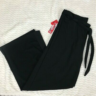 Hot Kiss Plus Size 3X Women's Black Wide Leg Pants NWT Stretch Holiday