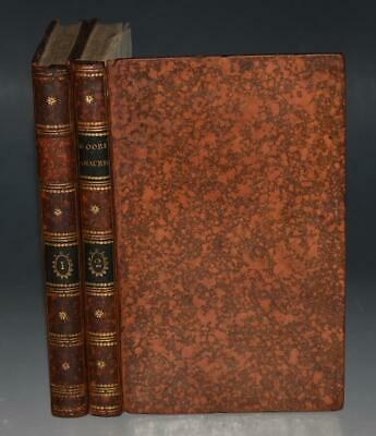 Thomas Moore Odes Of Anacreon Carpenter 1802 COMPLETE 2 Vols Attractive LEATHER