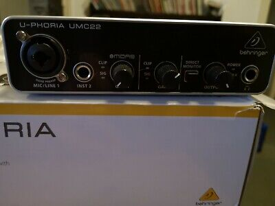 Behringer UMC22 U-Phoria Audio/Sound Interface. Used but excellent, boxed etc.