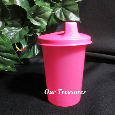 Tupperware New PINK Kids Toddlers Bell Tumbler with PINK Sipper Sippy Seal