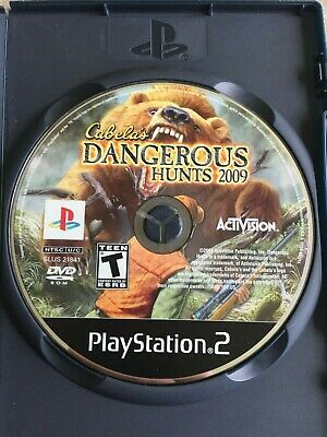 Cabela's Dangerous Hunts 2009 (Sony PlayStation 2, 2008) disc only NO TRACKING
