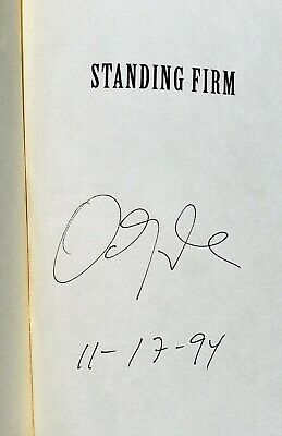 SIGNED Dan Quayle Signed Hardcover Book Nov 17 1994 Standing Firm Autograph