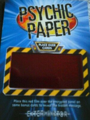 Dr who battles in time psychic paper