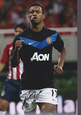 LUIS NANI Hand Signed MANCHESTER UNITED Autograph Photo - AUTHENTIC