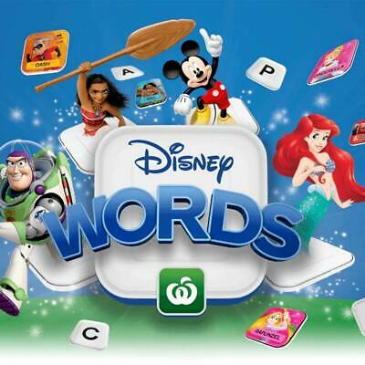 Woolworths Disney Words Tiles -  COLLECT