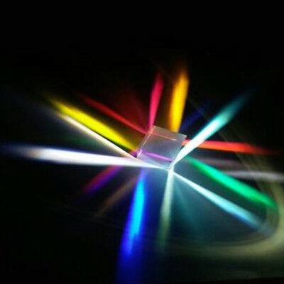 Optical Glass X-cube Dichroic Cube Prism RGB Combiner Splitter Gift Q1
