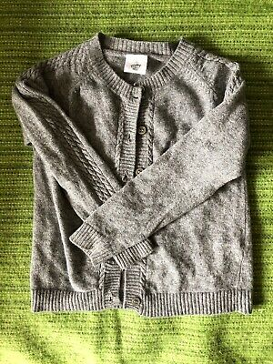 Pretty Wild Grey Girls Knit Cardigan Wool Blend Sz 3 / 36 Months