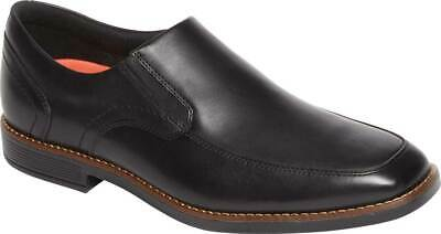 NEW Mens ROCKPORT SLAYTER Black LEATHER Slip On Dress Shoes AUTHENTIC IN BOX