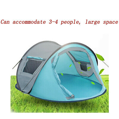 4-Person Pop Up Camping Tent Instant Dome Waterproof Automatic Family Shelter US