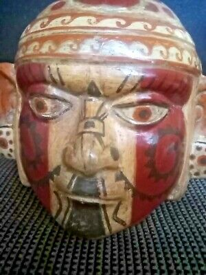 Portrait Head  Stirrup Spout  Pre-Columbian, Moche