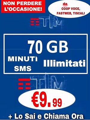 Coupon Passa A Tim Special 50Gb Minuti Illim Tim Iron Tre Lycamobile Ho Mobile