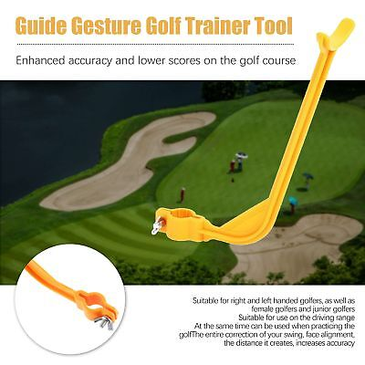 Golf Swing Trainer Tool Weight Practice Grip Guide Training Aid Irons Y1