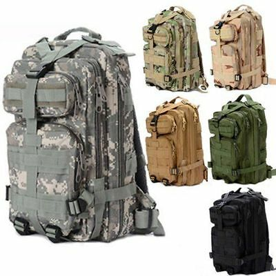 30L Military Tactical Backpack Rucksack Camping Hiking Trekking Bag Outdoor Dx