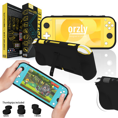 Orzly Comfort Grip Case for Nintendo Switch Lite - Solid Black