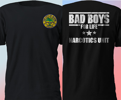 New Miami Narcotics Unit Police Department Bad boys for life T-Shirt S-4XL